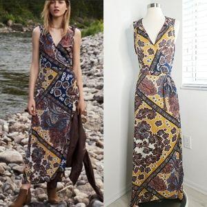 •ANTHRO|TINY• Mountaire Wrap Maxi Dress M.